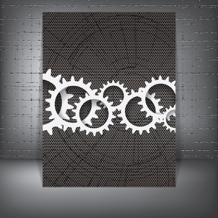 Abstract gear futuristic background Vector