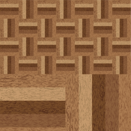 Wooden parquet brown floor texture Stock Vector - 20329001