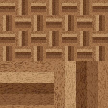 Wooden parquet brown floor texture Stock Vector - 20329001