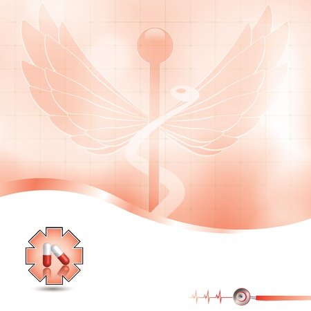 stamina: Abstract red grid medical background