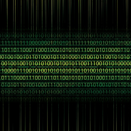 binary background: Abstract tech binary green background