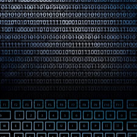 llustration de clavier high-tech avec un nombre binaire