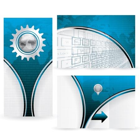 World Map futuristic background brochure Stock Vector - 21636241