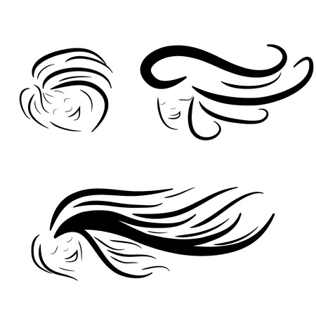beauty saloon: Hair stile icon isolated