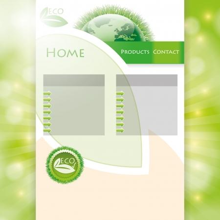 go green: Vector environmental green web Design Template  Illustration