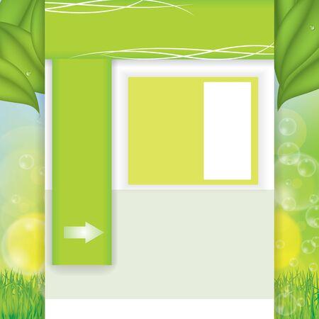 Vector environmental green web Design Template  Vector