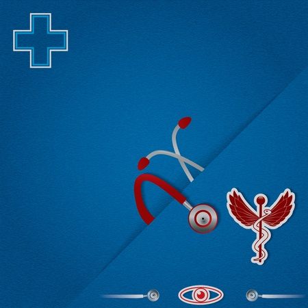 stamina: Abstract blue red medical background