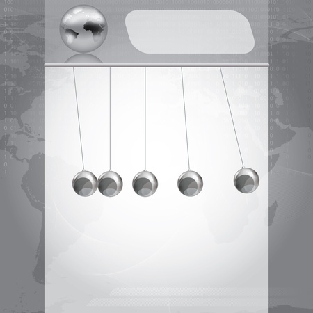 Business silver Design Template pendulum illustration Vector