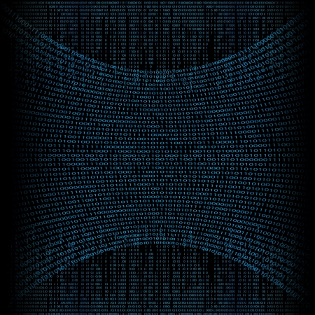 Abstract tech binary blue background 矢量图像