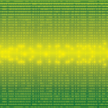 frid: Abstract tech binary green background
