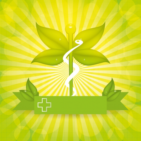 Abstract natural green medical background Vector