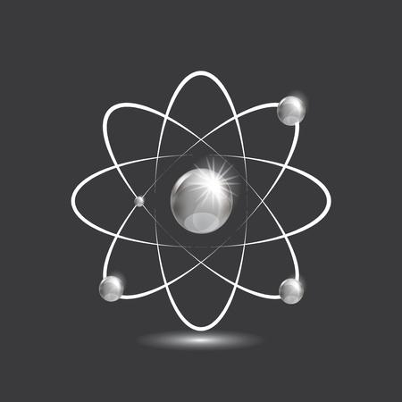 Illustration of bright silver atoms Stock Vector - 22070849