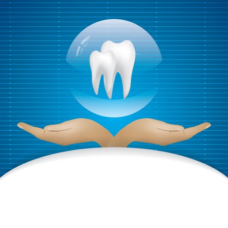 carious: Abstract vector dental illustration of teeth Illustration