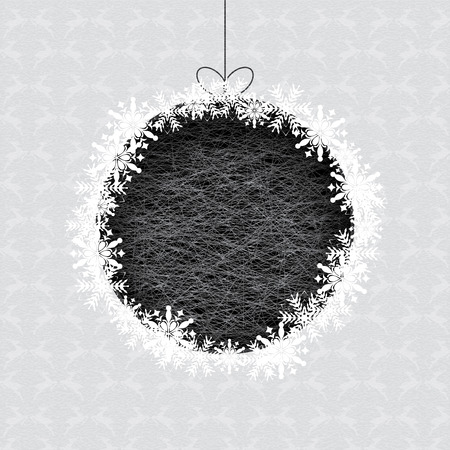 Abstract winter silver white snowflakes background  Vector