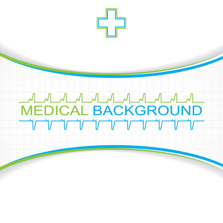 hospital sign: Abstract blue grid medical background