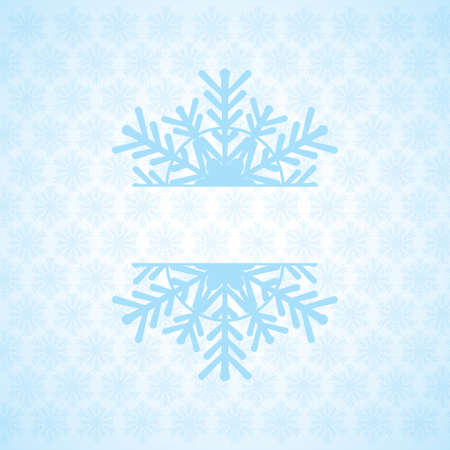 Abstract winter blue white snowflakes background  Vector