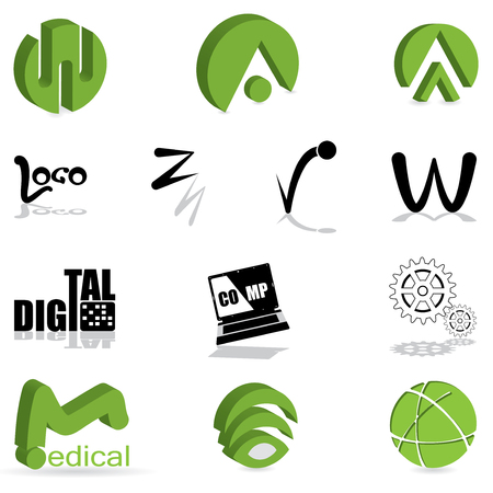 Set of different kind of logo  Vector