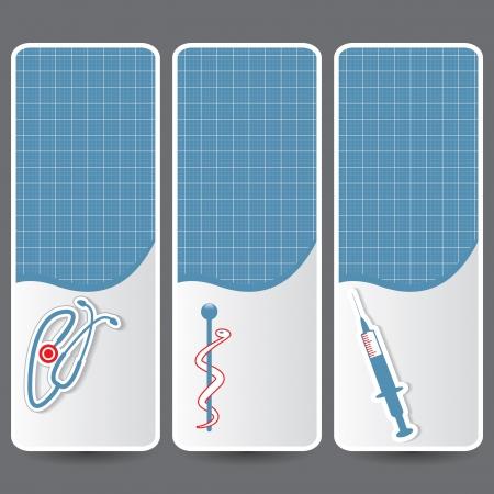 Set of medical banners or website headers  Vector