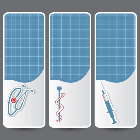 diagnostic medical tool: Set of medical banners or website headers