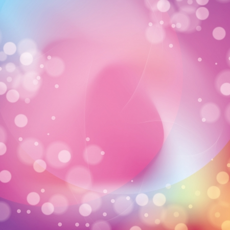 Fond abstrait color� avec des bulles et des lignes Illustration