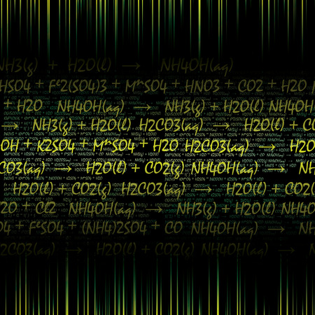 Abstract chemical formula dark background  Vector