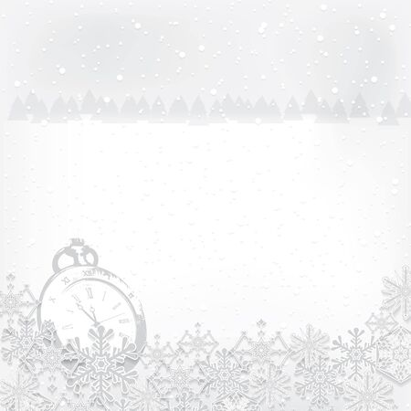 Abstract winter Christmas New Year background   Illustration