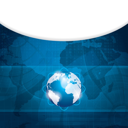 Business vector blue background global concept