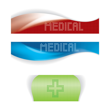 Set of medical banners or website headers  Vector