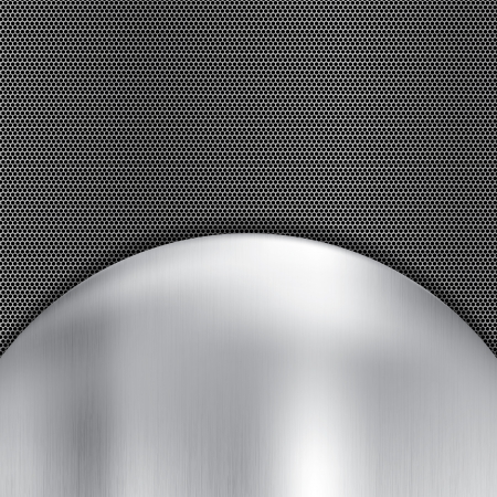 Abstract metallic grid background silver Stock Vector - 25253374