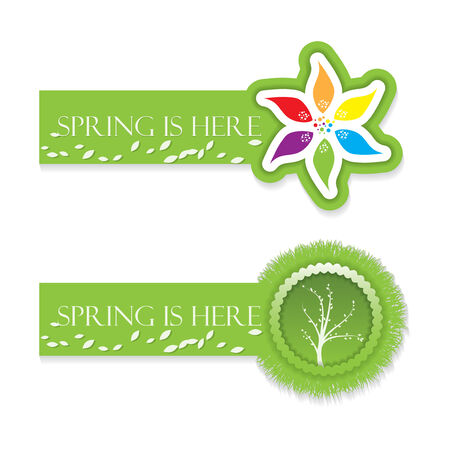 Spring and environmental banner set  Vector