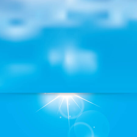 Abstract sunny sky and clouds vector background  Vector
