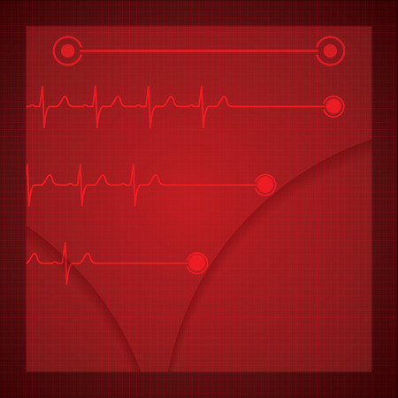 Abstract medical cardiology ekg background Stock Vector - 25986197