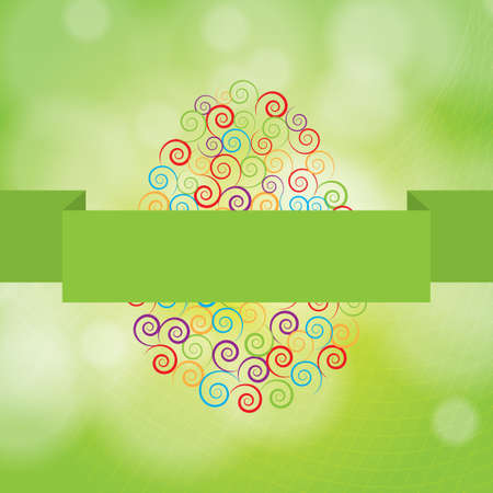 Colorful easter background colorful spirals Vector