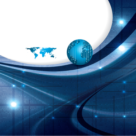 Business vector blue background global concept  Vector