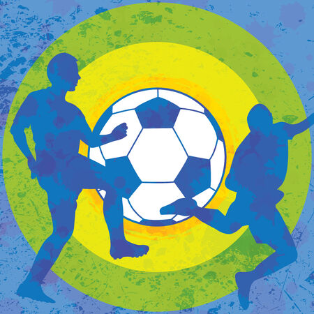 Colorful soccer background  Vector