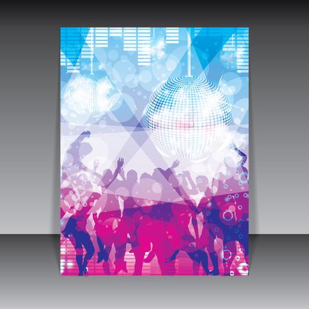 Fondo colorido del partido del disco Ilustración de vector