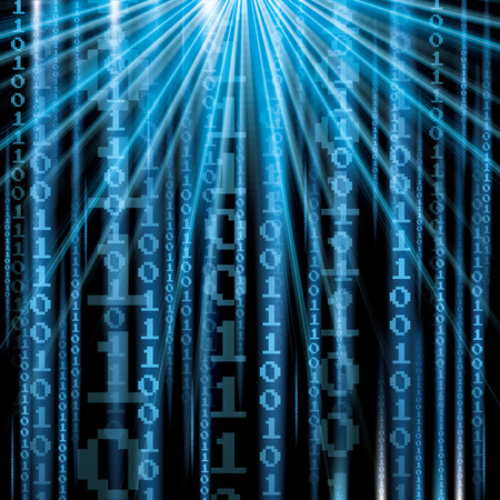 frid: Abstract tech binary blue background