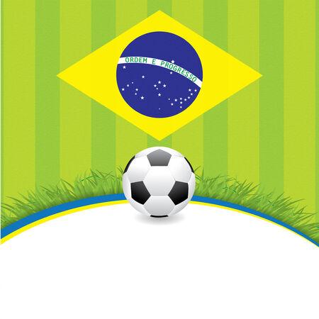 brasil: Brasil Soccer green background