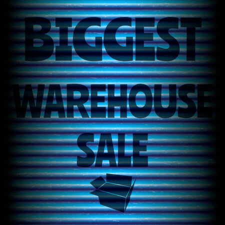 biggest: Biggest warehouse sale blue template