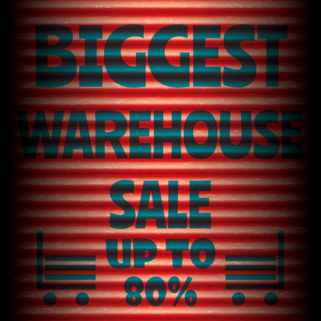 biggest: Biggest warehouse sale red template