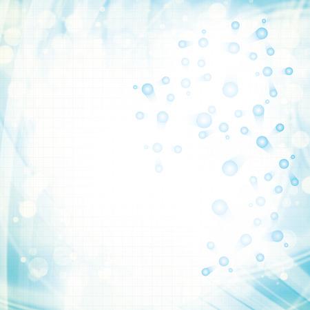 R�sum� mol�cule couleurs claires sur fond bleu