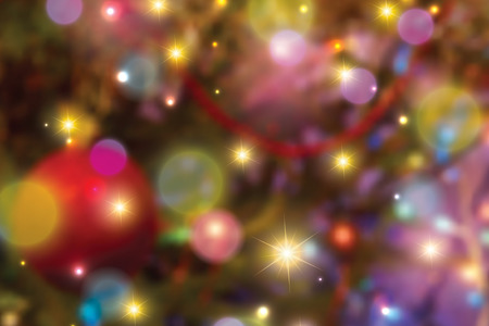 lights background: Blurred colorful christmas lights background Illustration