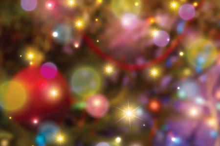 Światła: Zatarcie kolorowe oświetlenie świąteczne tle