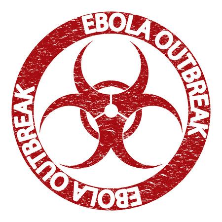 virus alert: Stop Ebola virus abstract grunge alert symbol