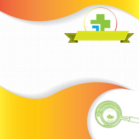 stamina: Abstract orange green grid medical background