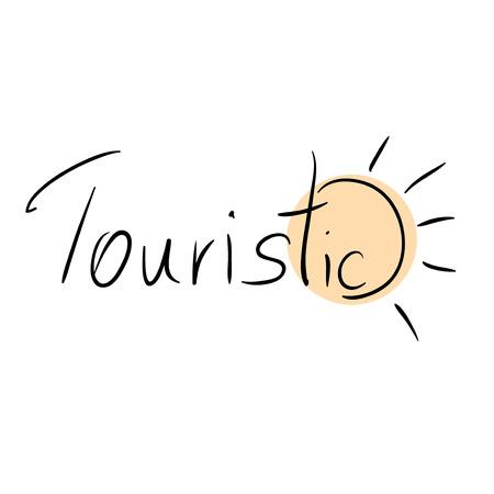 touristic: Touristic business symbol with sun Illustration