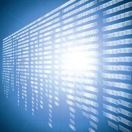 frid: Abstract tech blur blurry binary blue background