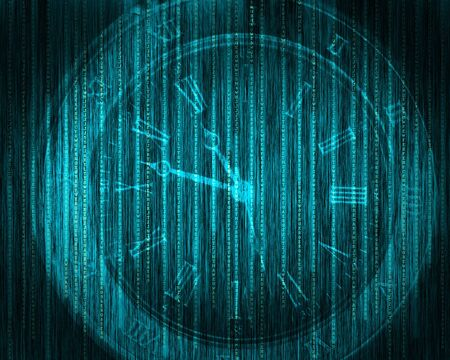 Abstract tech binary blue background Stock Photo