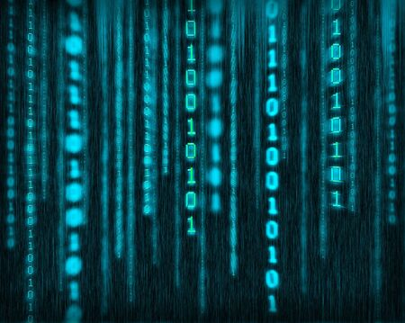 frid: Abstract tech binary blue background Stock Photo