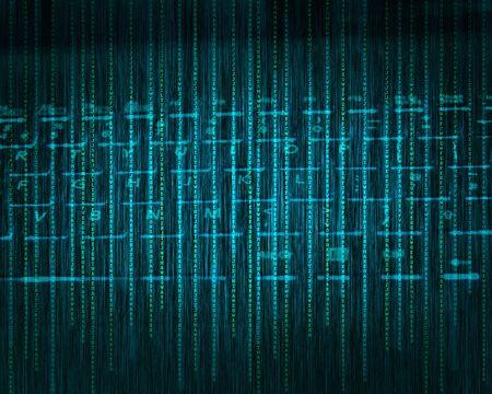 nole: Abstract tech binary blue keyboard background Stock Photo